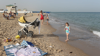 חוף ראשון לציון הבוקר