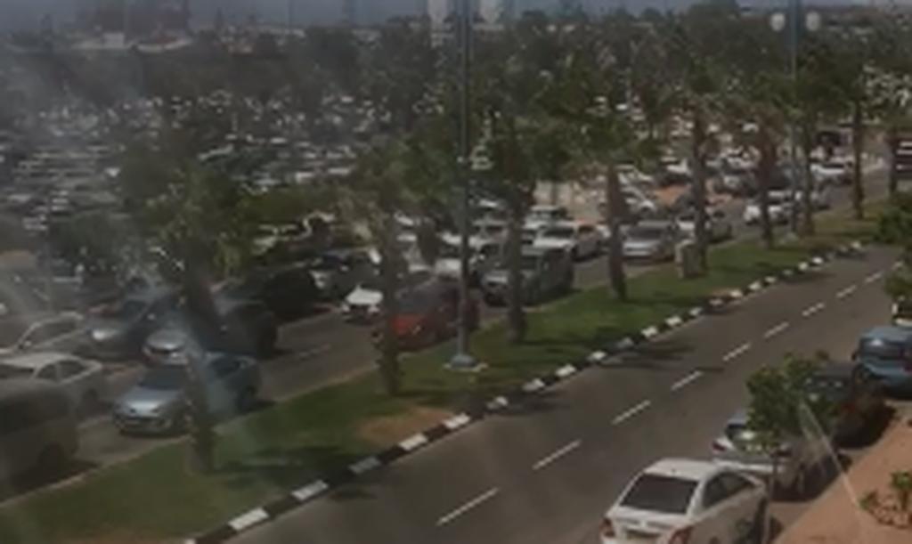 עומסי תנועה ליד חוף ראשון