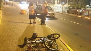 מזירת התאונה בראשון לציון