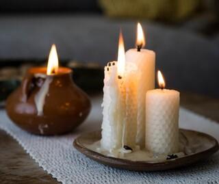 נרות בניחוח קקאו, וניל, לבנדר, תפוז וקינמון