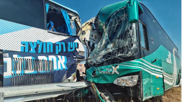 מזירת התאונה בכביש 6