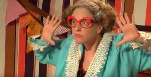 """פונים לעזרת הציבור. ההצגה """"הקרקס של סבתא פישקה""""   צילום: מתוך יוטיוב"""