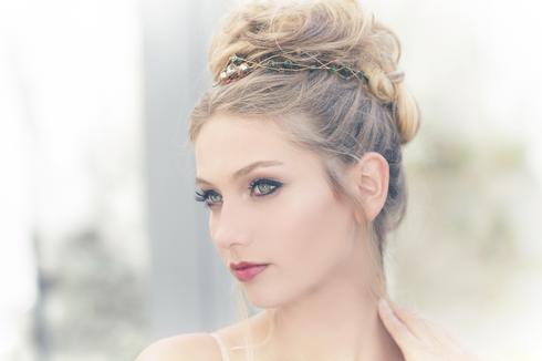 איפור ושיער של דניאלה פרנקל, מתוך הבלוג כלות עם שיק. צילום: רותם ברק