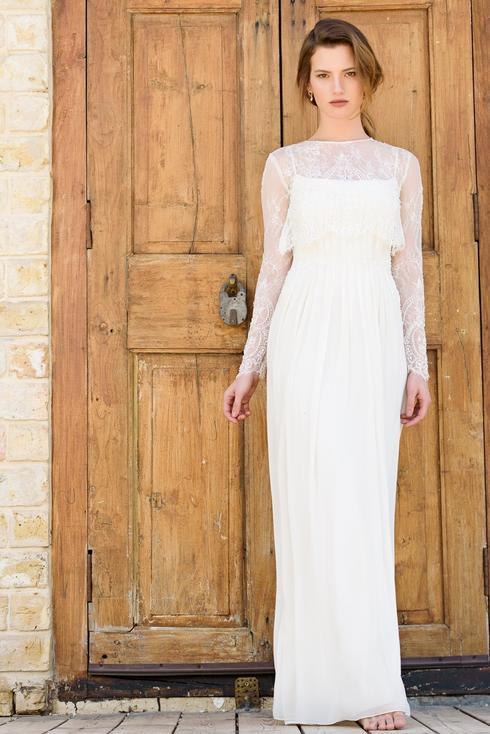 """שמלת כלה של אלה עובד, החל מ 2,000 שקלים. להשיג ביריד מקודשת. צילום: יח""""צ"""
