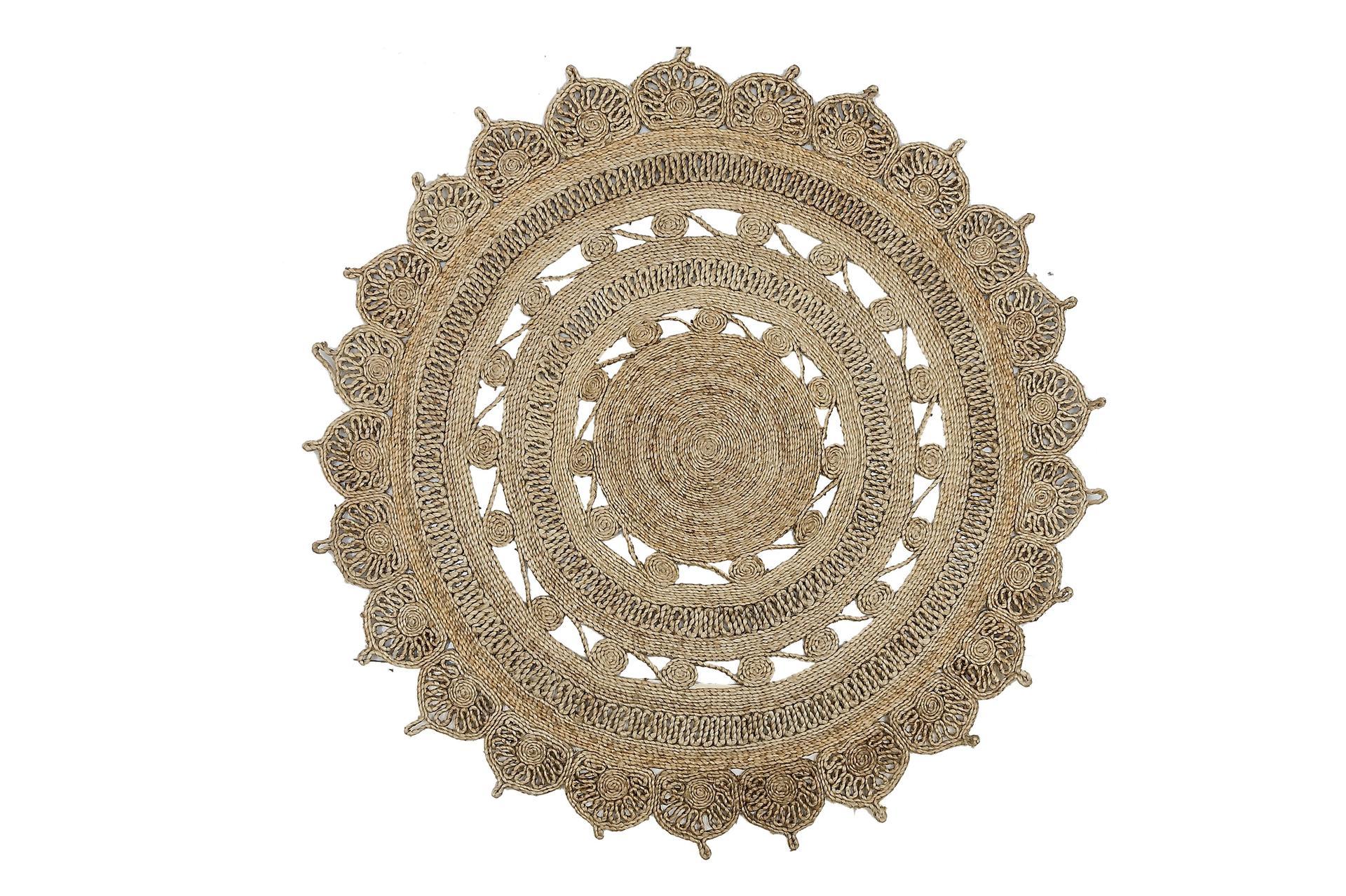 שטיח חבלים עגול, פלורליס. צילום: סטודיו פלורליס