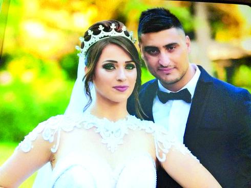 רינאל ועדנאן בחתונתם   צילום: סלמאן סעיד
