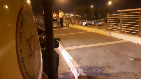 מהתאונה ליד מחלף ראשונים | צילום: תיעוד מבצעי מגן דוד אדום
