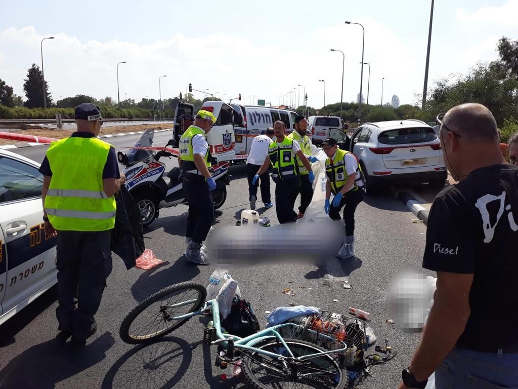 """מהתאונה בצומת פיקוד העורף   צילום: דוברות זק""""א"""