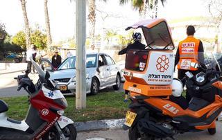 התאונה בנתניה | צילום: דוברות איחוד הצלה