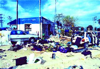 הפיגוע בבית ליד, ינואר 1995   צילום: מיכאל קרמר
