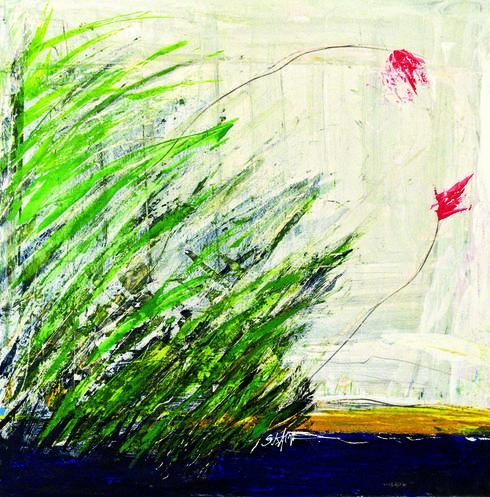 אחת מיצירותיו של אלקרא | צילום: נחום סגל