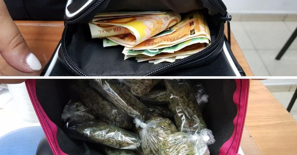 בבדיקה התגלו סמים וכסף רב | צילום: דוברות המשטרה